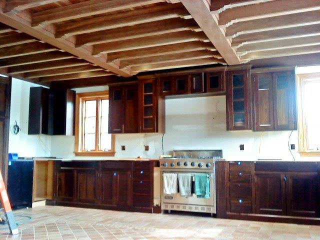 Arundel Maine Home Kitchen Remodel and Wood Beams